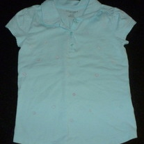 Light Blue Shirt With Hearts-Sonoma Size 6X