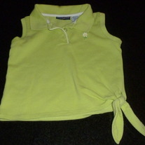 Lime Green Shirt with Tie at Bottom-Chole's Closet Size 5/6
