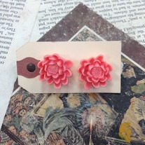 Large Flower Earrings *Available in other colors
