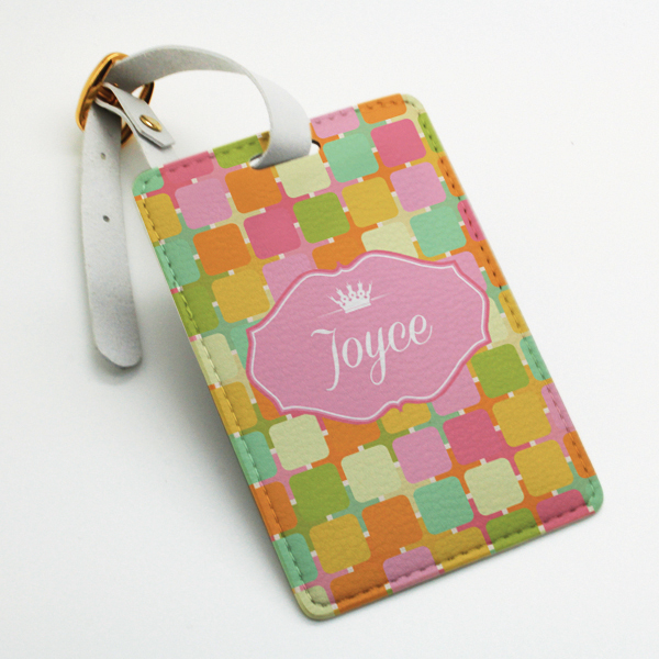 luggage tag  travel bag tag  colorful chic funny pattern  perfect gift for custom wedding favor