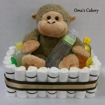 Monkey Diaper Basket