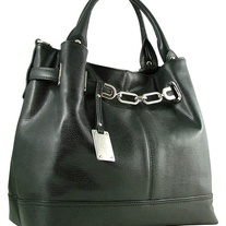 Italian Designer Leather Bag (Black - Siria)
