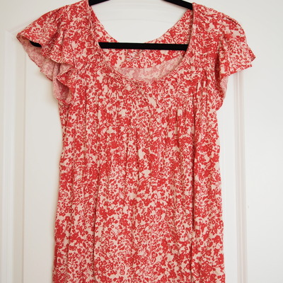 Red floral top - kohl's