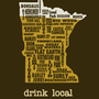 Drink Local-Minnesota Beer T-shirt - Thumbnail 1