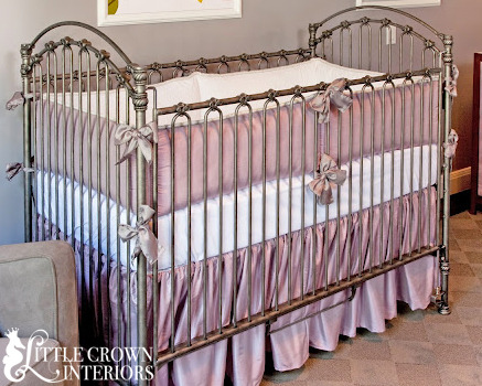 Lavender Silk Crib Bedding Set