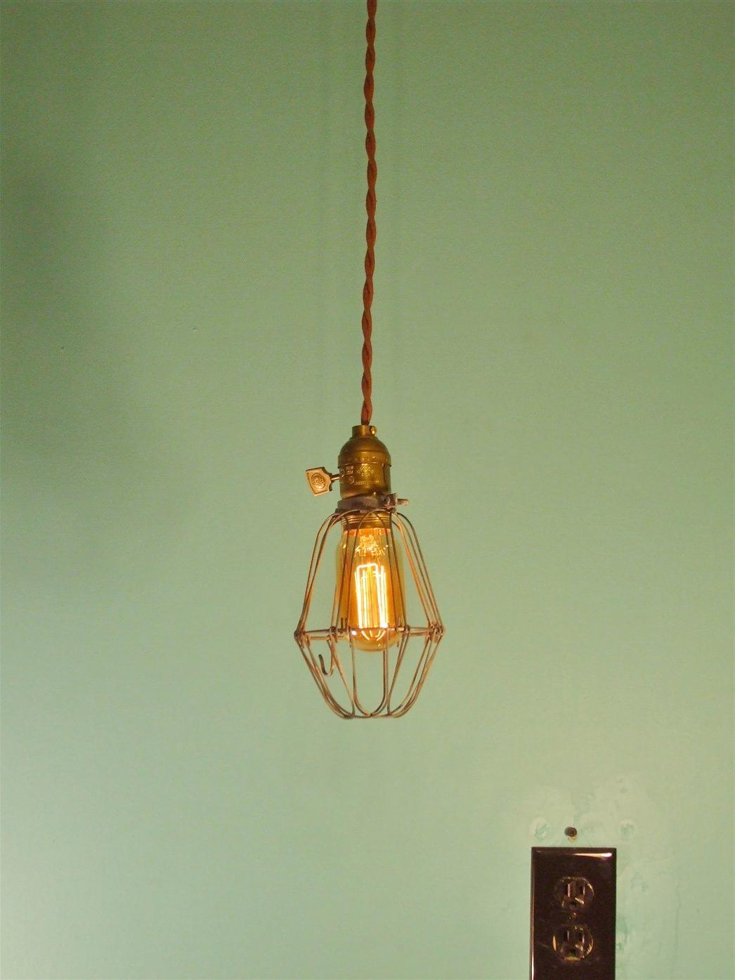 Vintage Industrial Style Cage Pendant Lamp Dw Vintage