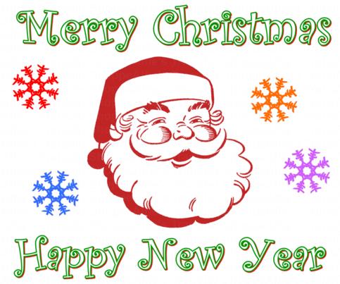 christmas santa claus iron on heat transfer 10 x 8 alfies