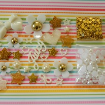 Kawaii DIY Gold & White Decoden Kit - Gold Digger