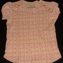 Peach Shirt with Flowers-Jumping Beans Size 5