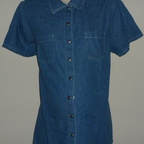 Denim Snap Shirt-Baby and Me Size Large
