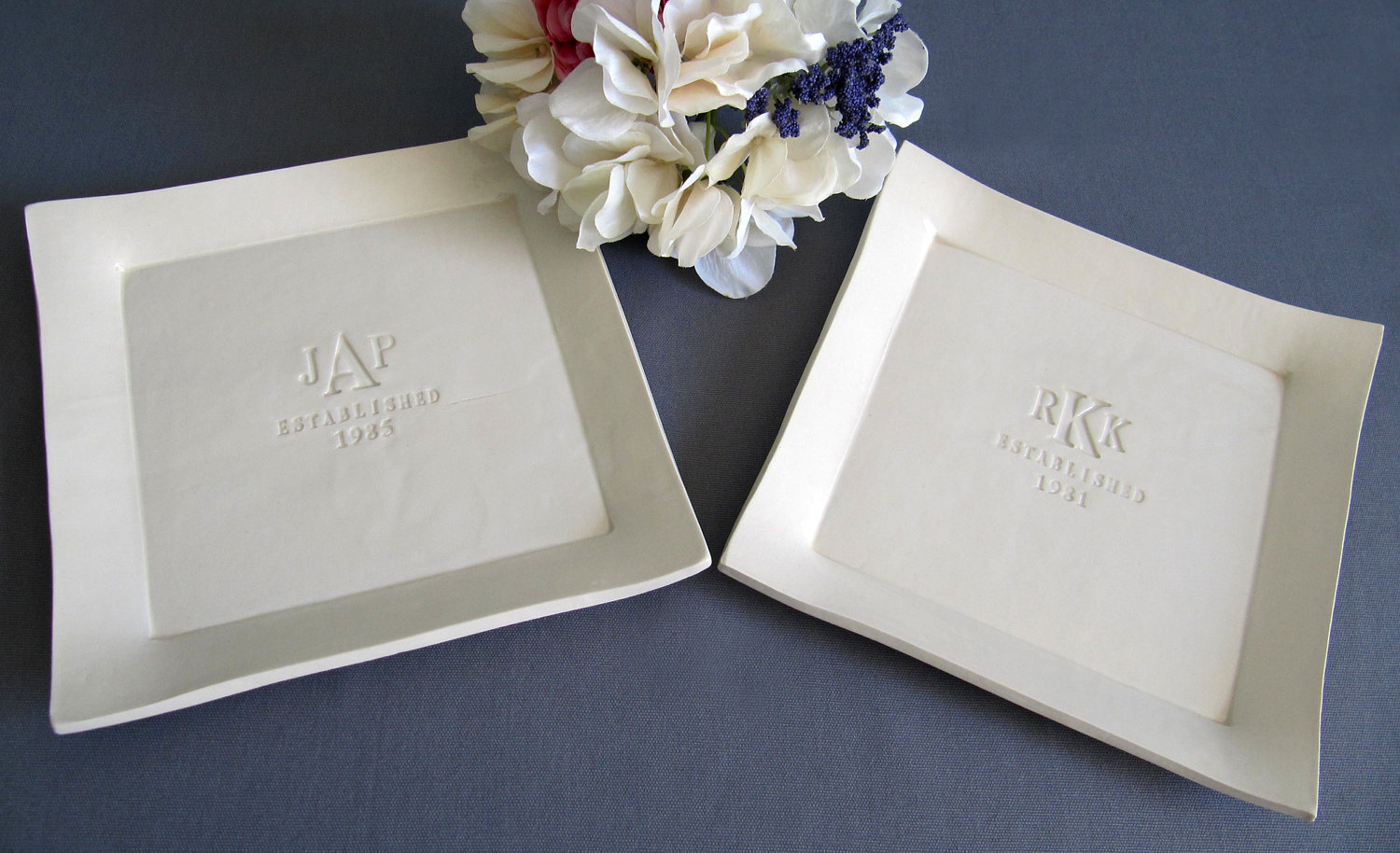 Susabella | Set of Personalized Platters - Parent Wedding Gifts ...