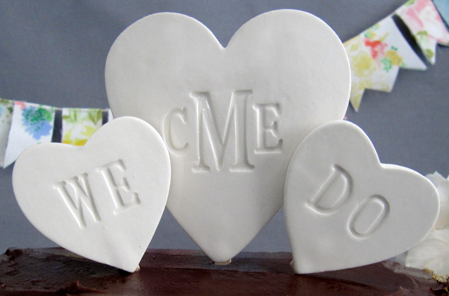PERSONALIZED Heart Wedding Cake Topper on Storenvy