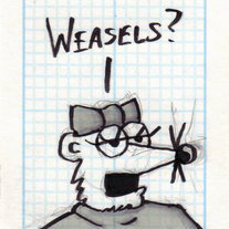 Sketch Card: Girl Weasel