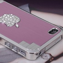 New Bling Sparkle Crystal Logo Pink Elegant iPhone Case