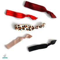 Luxurious Cheetah Hair Tie Set - Set of 5