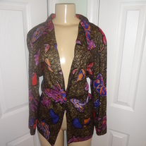 Flower Black and Gold Blazer Size L or XL