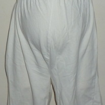 White Cotton Shorts-Duo Maternity Size Small  CLLO