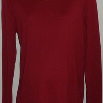 Long Sleeve Maroon Top-Oh Baby By Motherhood Size XL