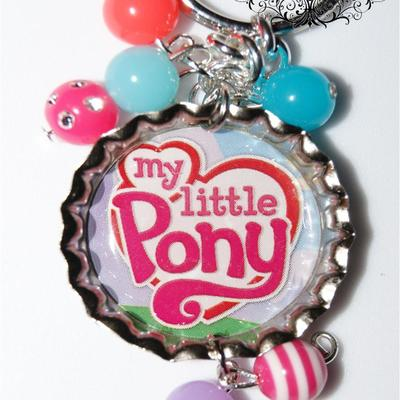 Logo inspired of my little pony tails bottle cap keychain