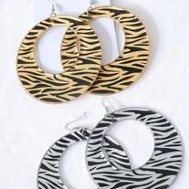 Zebra Print Dangle Earrings