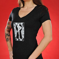 Women's Vintage V-Neck Keyhole Graphic Tee