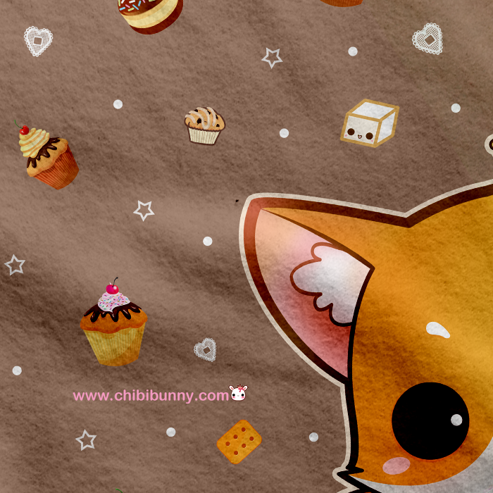 Fox And Chocolate Cakes Cute Kawaii Fleece Blanket FB40 Chibi Interesting Cute Fleece Throw Blankets