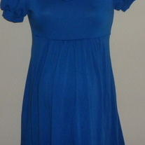 Blue Short Sleeve Dress-Soprano Size Small