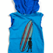 Appaman Surfboy Blue Hooded Tank