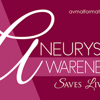 """Aneurysm Awareness Saves Lives"" Sticker (Magenta)"
