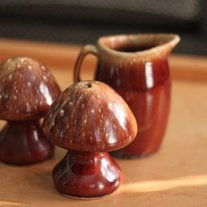 Mod Pottery Mushrooms Salt & Pepper Set