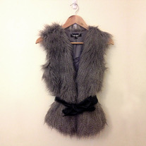 Forever New faux fur gilet XS