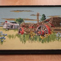 Retro Needlepoint Art