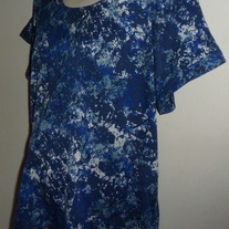Blue/White Splotch Short Sleeve Shirt-A Pea in a Pod Maternity Size Small