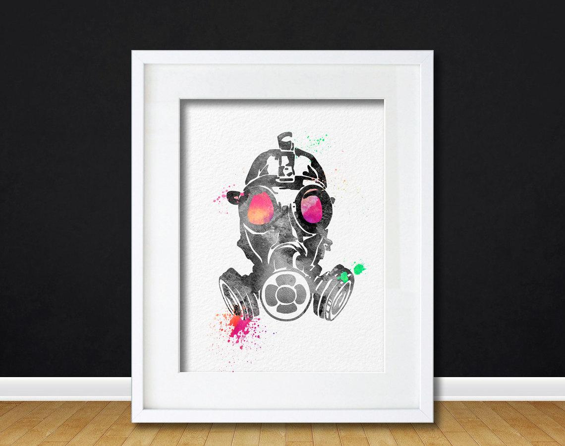Watercolor Art Industrial Fall Out Pop Art Gift Modern