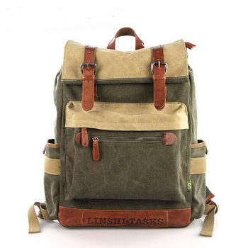Functional Tramp canvas Backpack | Outdoor laptop Daypack mens ...