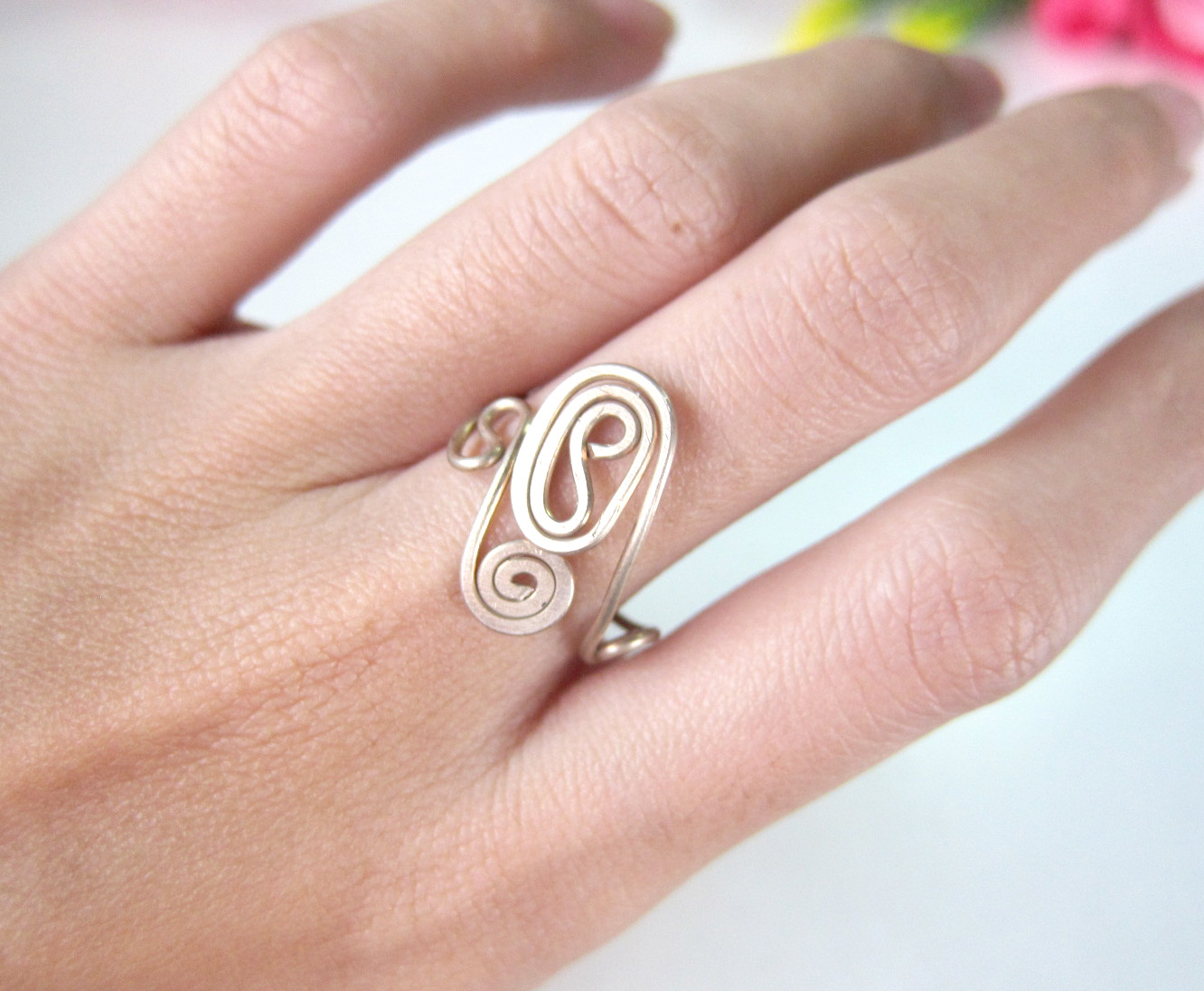 Bronze Ring, Coli, Delicate designs - Adjustable Ring, Jewelry ...