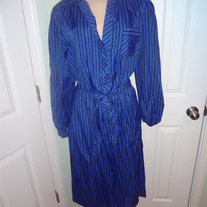 Plus Size Vintage Stripe Blue Dress Size 18!!