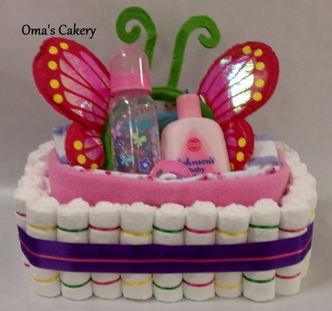 Cakery | Butterfly Diaper Basket | Online Store Powered by Storenvy