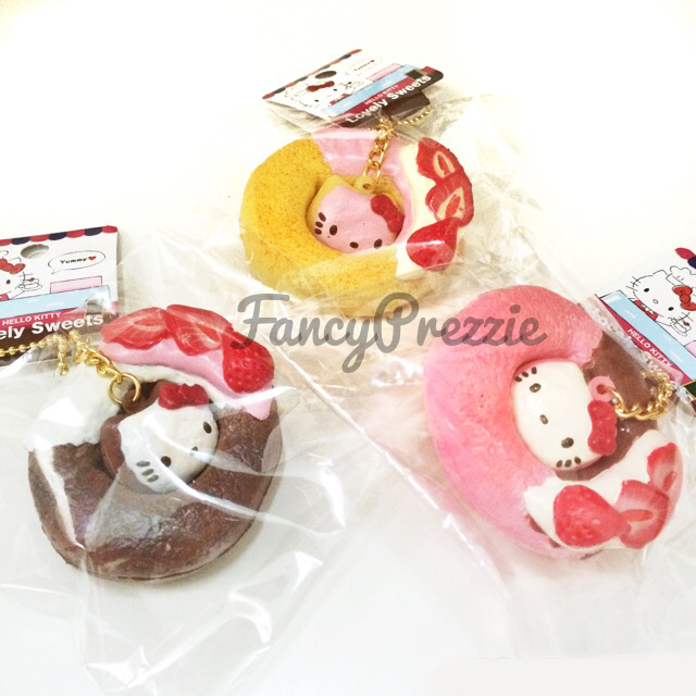Hello Kitty Donut Squishy Size : Hello Kitty Lovely Sweets Donut Squishy ? FancyPrezzie ? Online Store Powered by Storenvy