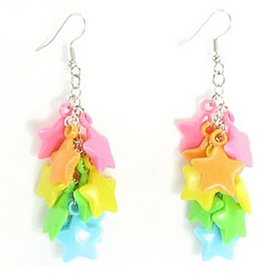 Star charm earrings (zlanarama)