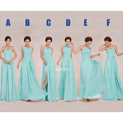 Tiffany blue bridesmaid dresses, long bridesmaid dresses ...
