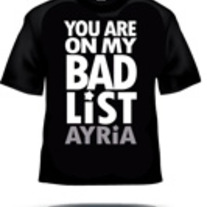 Bad List T-shirt (one left)