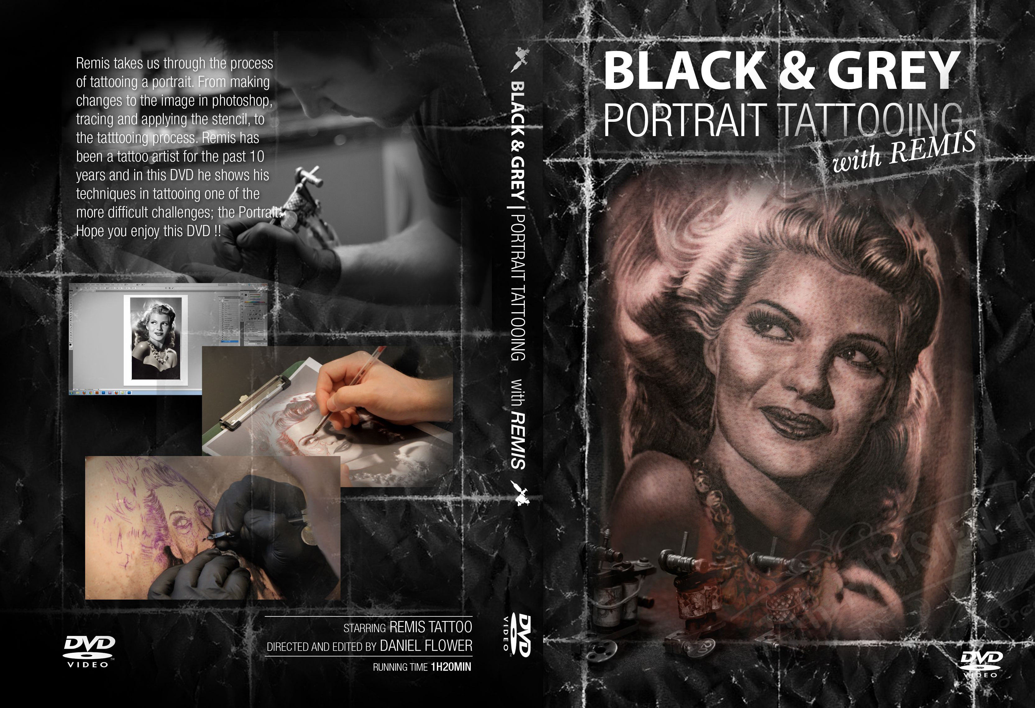 Black grey portrait tattooing dvd on storenvy for How to tattoo dvd