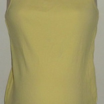 Yellow Ribbed Tank Top-Motherhood Maternity Size XL