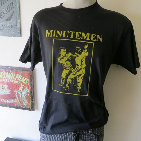 The minutemen t shirt screen print short sleeve vintage for Vintage screen print t shirts