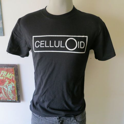 Celluloid records t shirt screen print black short sleeve for Vintage screen print t shirts