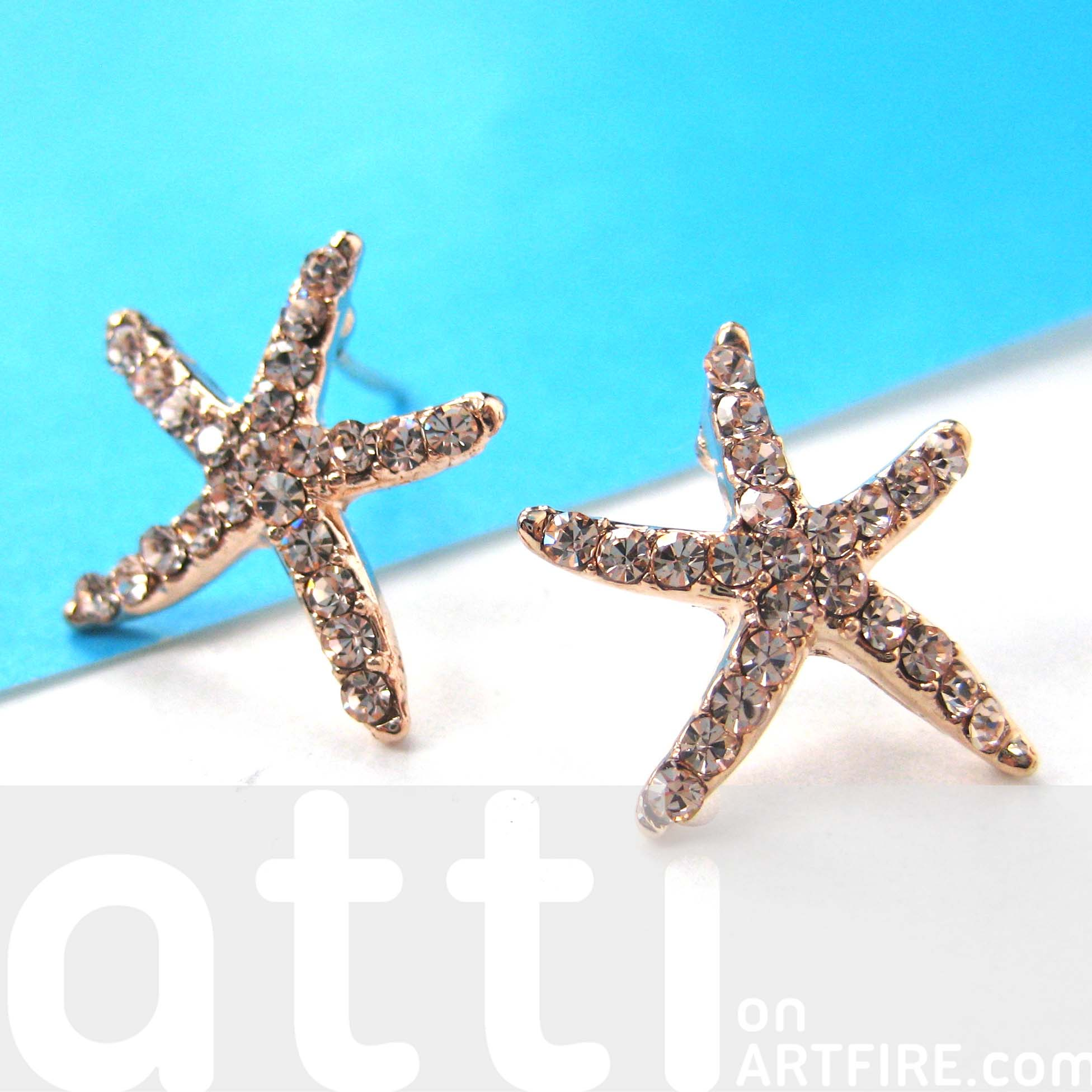 earring stud img thumbnail life nautical products piece set collections original small anchor earrings starfish buoy
