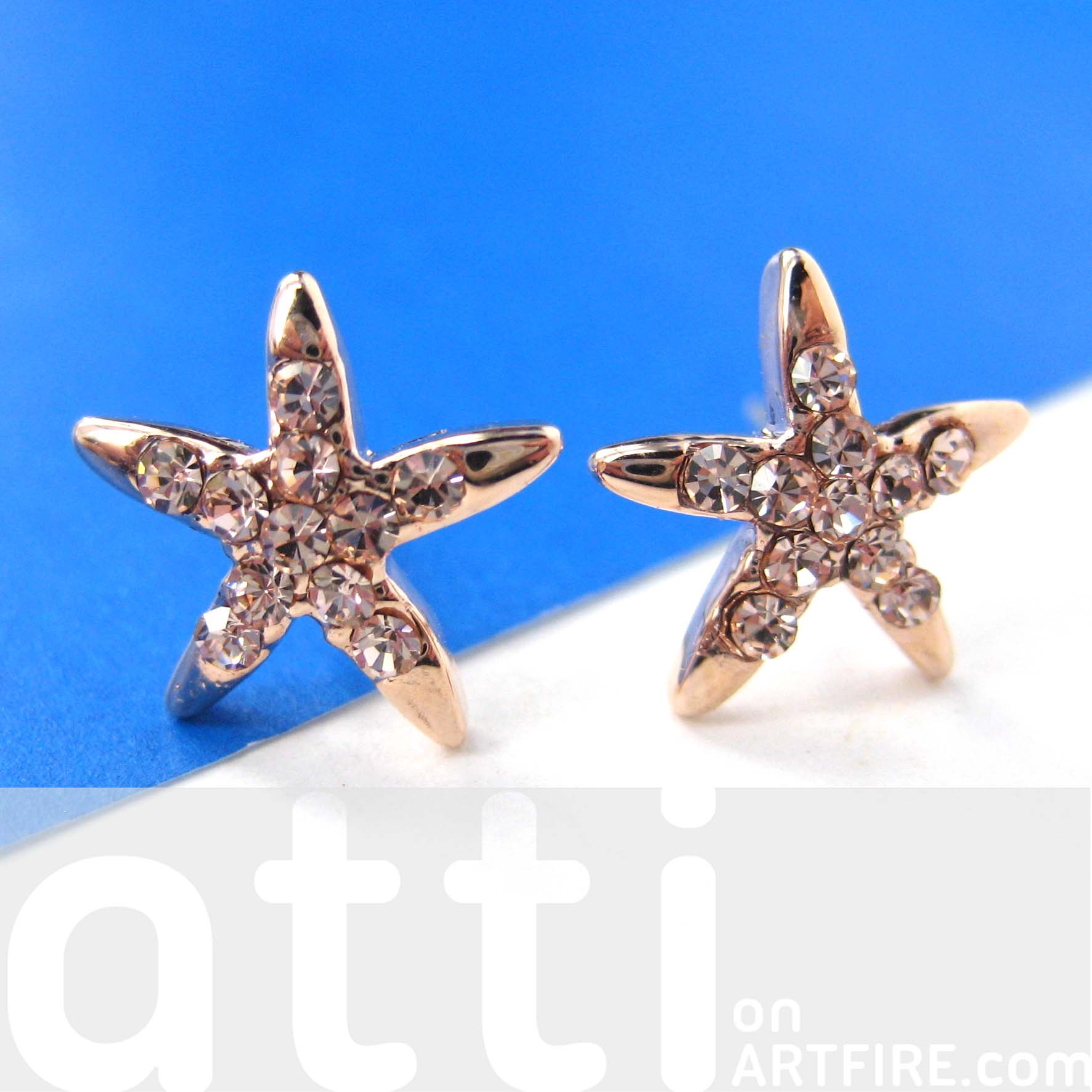 light bronze in thumbnail earrings star original small starfish img dotoly stud products shaped
