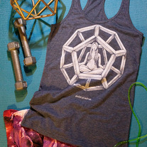 Dodecahedron Racerback Tank medium photo