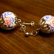 Swedish Midsommer Porcelain Earrings